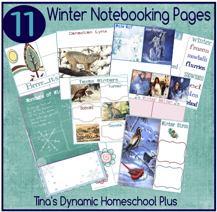 11 Winter Notebooking Pages @ Tina's Dynamic Homeschool Plus-min