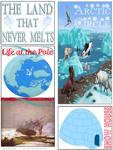 Land That Never Melts Minibook Cover @ Tina's Dynamic Homeschool Plus
