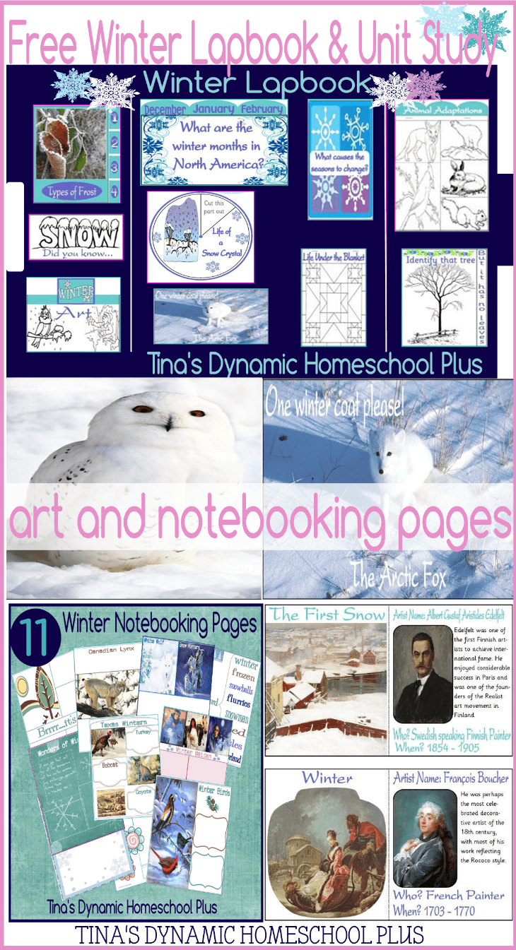 Free Winter Unit Study and Lapbook for homeschooled kids @ Tina's Dynamic Homeschool Plus-1