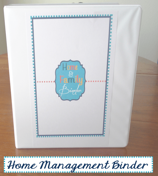 Home Management Binder @ Tina's Dynamic Homeschool PLus