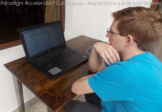 Paradigm Accelerated Curriculum World History Curriculum @ Tina's Dynamic Homeschool Plus