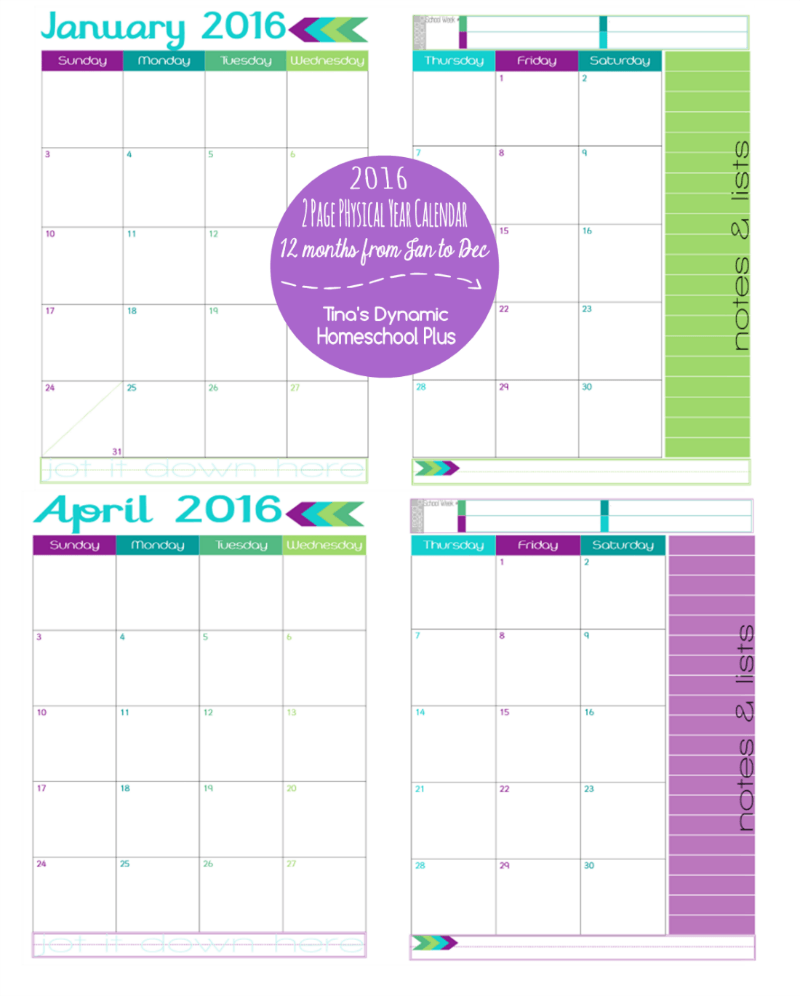Like my academic 2 page spread calendars , you get a full year with ...