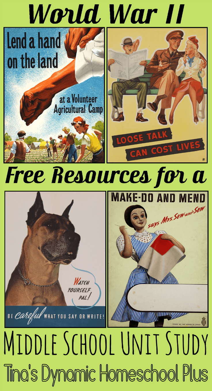 World War II Free Resournces for a Middle School Unit Study