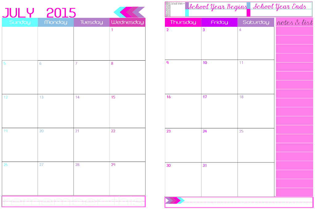 ... Page Monthly Planner 2015 Template/page/2 | New Calendar Template Site