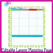 Editable Lesson Planning Page Mink Over You 300 Tina Dynamic Homeschool Plus