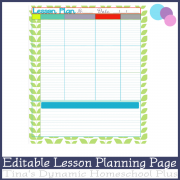Editable Lesson Planning Page Mink Over You 600x @ Tina's Dynamic Homeschool Plus