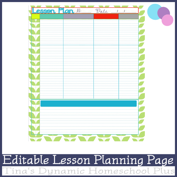 editable lesson planning page mink over you