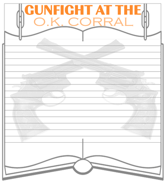 Gunfight at the O.K. Corral story and about Tombstone Arizona minibook @ Tina's Dynamic Homeschool Plus 1