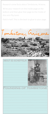 Gunfight at the O.K. Corral story and about Tombstone Arizona minibook @ Tina's Dynamic Homeschool Plus 2