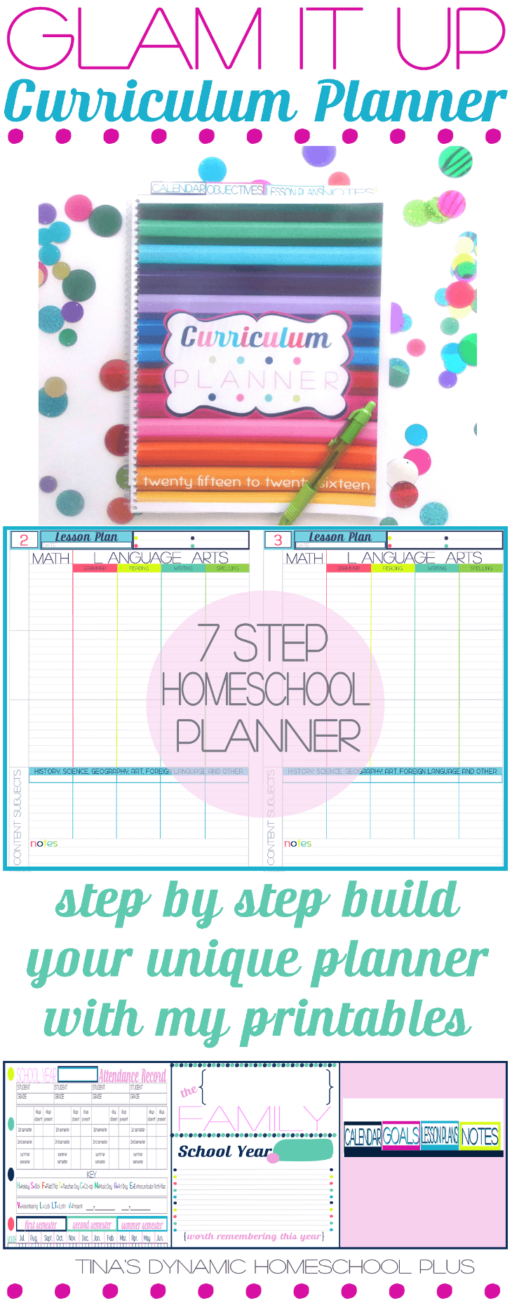Glam It Up Homeschool Planner @ Tina's Dynamic Homeschool Planner