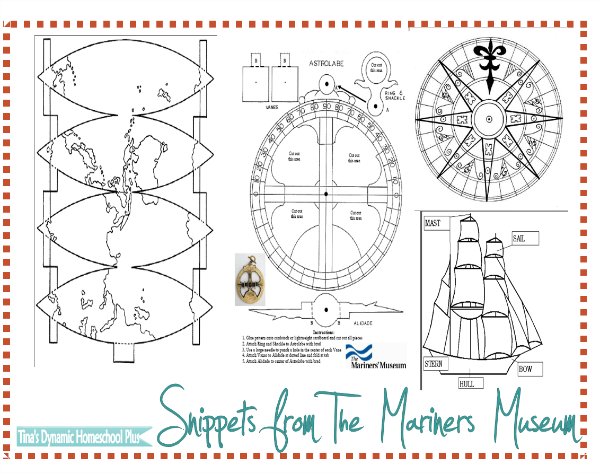 Snippets of Free Downloads from the Mariners Museum @ Tina's Dynamic Homeschool Plus