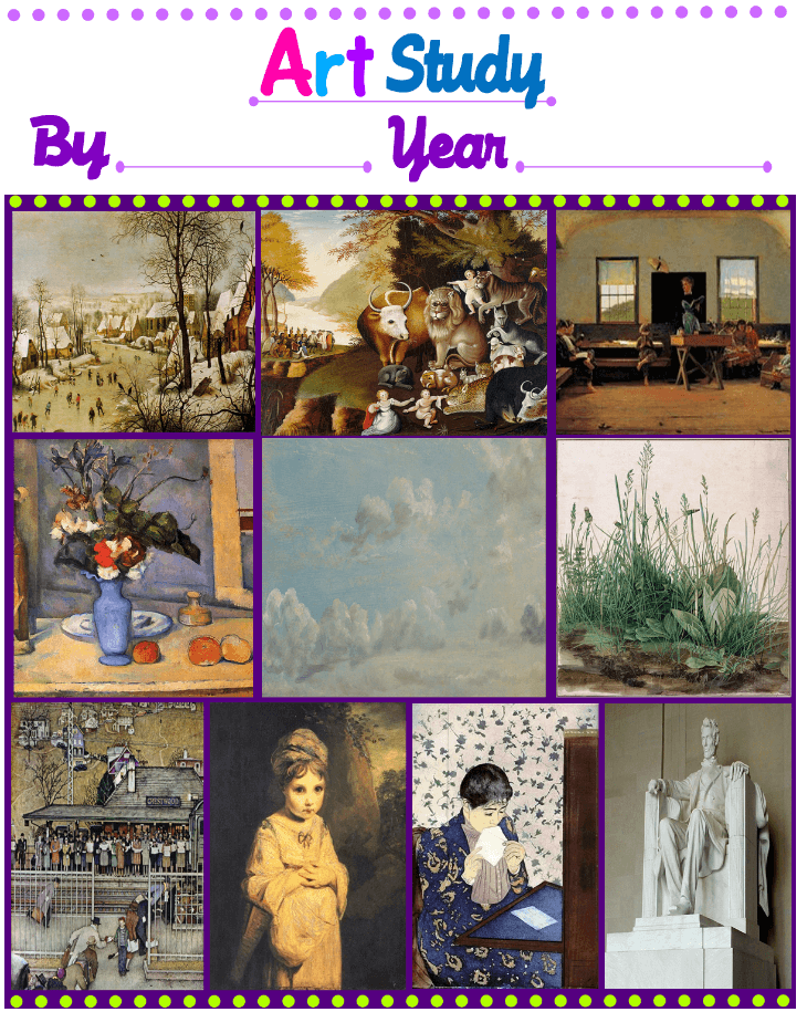 FREE ART CURRICULUM & NOTEBOOKING PAGES – GRADE 1 (3RD – 7TH GRADE AVAILABLE TOO)