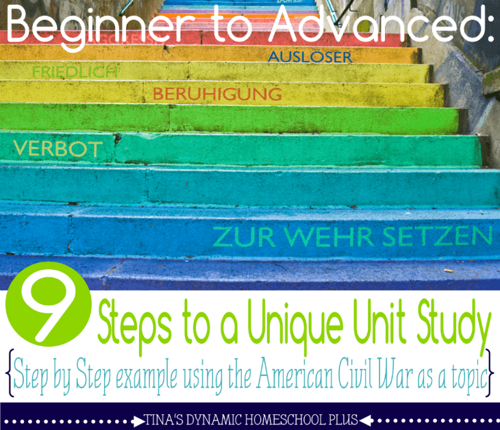 Beginner to Advanced 9 Steps to a Unique Unit Study @ Tina's Dynamic Homeschool Plus