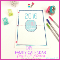 DIY Family Calendar. Not only beautiful but frugal @ Tina's Dynamic Homeschool Plus featured