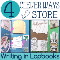 4 Clever Ways to Store Writing in Lapbooks @ Tina's Dynamic Homeschool Plus featured