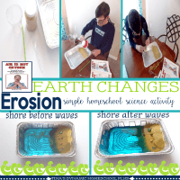 Easy hands-on homeschool earth science activity @ Tina's Dynamic Homeschool Plus featured