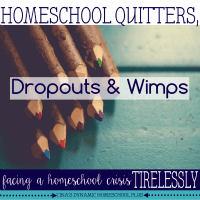 Homeschool Quitters, Dropouts and Wimps. featured