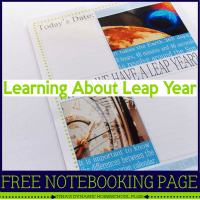 Learning about Leap Year free notebooking Page featured