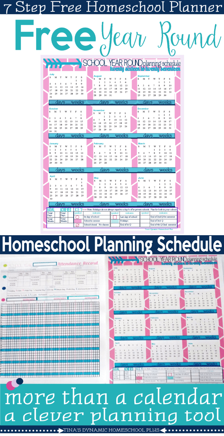 Calendar Home Planner : Free to year round homeschool planning form