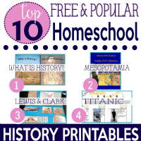 Top 10 Popular Free History Printables FEATURED