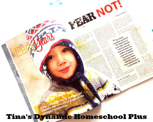 Encouraging and timely articles in Homeschooling Today @ Tina's Dynamic Homeschool Plus
