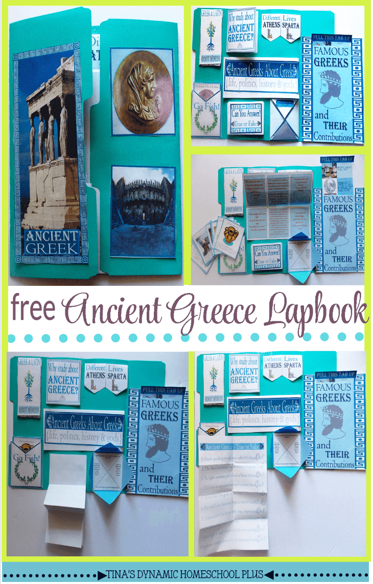Free Ancient Greece Second Lapbook @ Tina's Dynamic Homeschool Plus