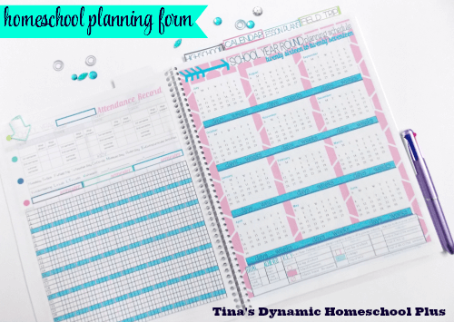 School Year Around Planning Form @ Tina's Dynamic Homeschool Plus