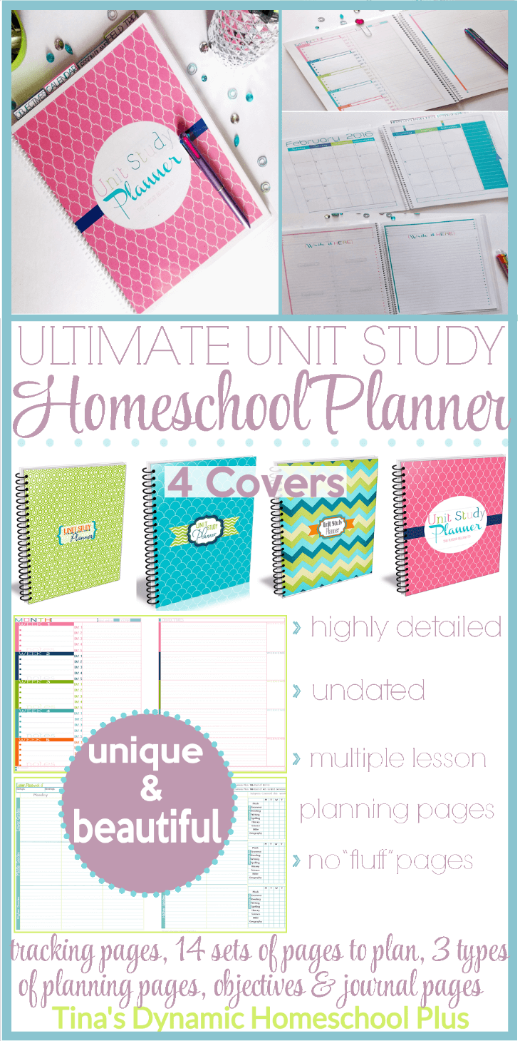 Ultimate Homeschool Unit Study Planner - Comparing Two Different Lesson Planning Pages @ Tinas Dynamic Homeschool Plus