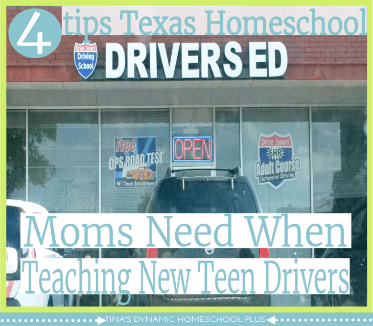 4 Tips Texas Homeschool Moms Need for New Teen Drivers. @ Tina's Dynamic Homeschool Plus
