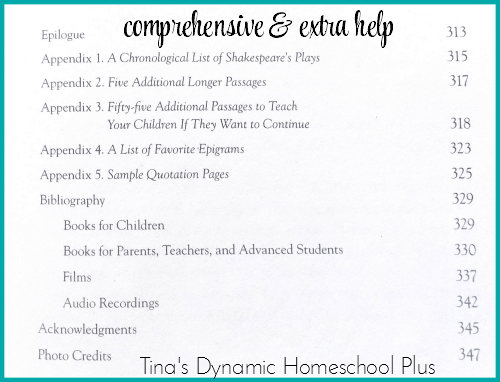 Appendix How to Teach Your Children Shakespeare @ Tina's Dynamic Homeschool Plus
