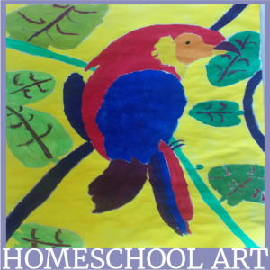 Homeschool Art without leaving your home. Feature @ Tina's Dynamic Homeschool Plus