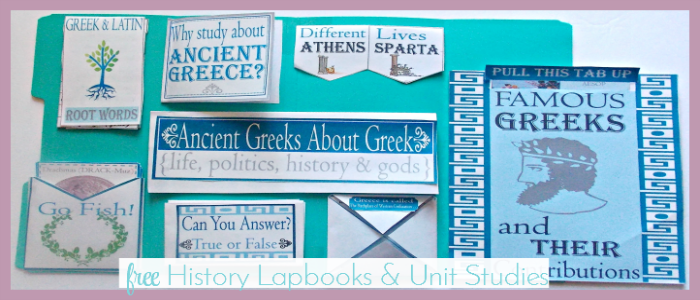 MANY Free History Lapbook! Grab this FREE Ancient Greece Lapbook