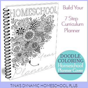 Grab this beautiful doodle coloring page for your free 7 step homeschool planner feature @ Tina's Dynamic Homeschool Plus