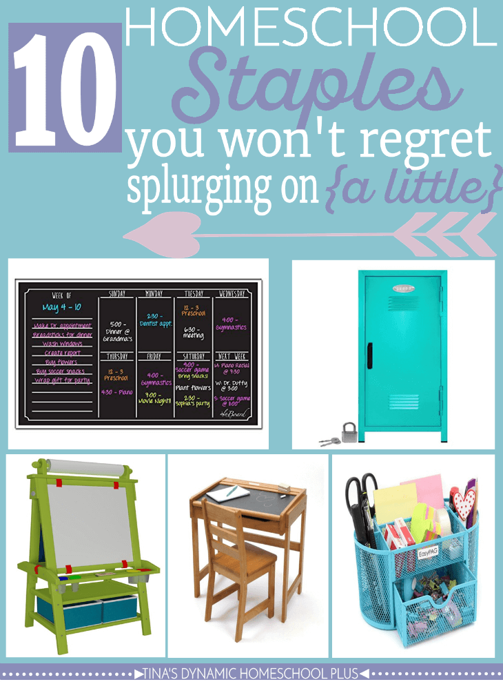 10 Homeschool Staples You Won't Regret Splurging on (a little). Grab an idea or two from this awesome list over @ Tina's Dynamic Homeschool Plus