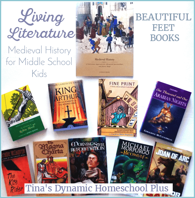 Beautiful Feet Books Living Literature for Middle School Homeschool @ Tina's Dynamic Homeschool Plus