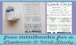 Free minibooks for a World War II unit study and lapbook. Grab Staged for War and Quick Facts 300x