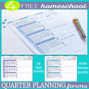Homeschool Quarter Planning Form - Build Your UNIQUE 7 Step Planner 300x @ Tina's Dynamic Homeschool Plus