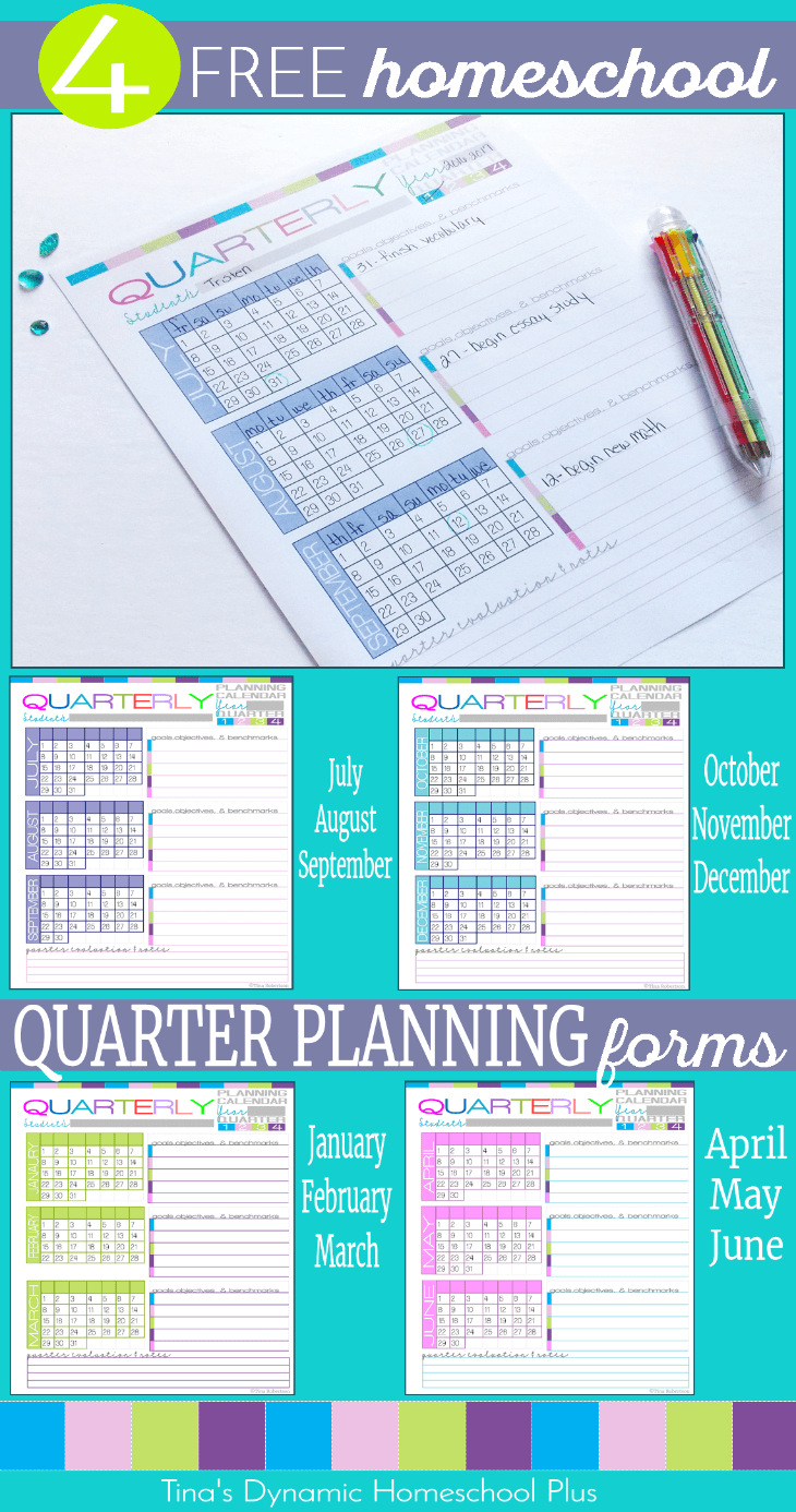 Homeschool Quarter Planning Form - Build Your UNIQUE 7 Step Planner @ Tina's Dynamic Homeschool Plus