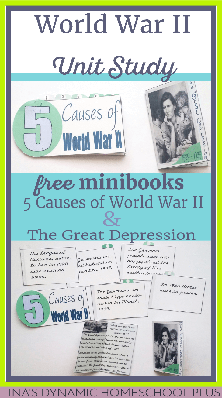 world war ii homeschool history minibooks causes great depression. Black Bedroom Furniture Sets. Home Design Ideas