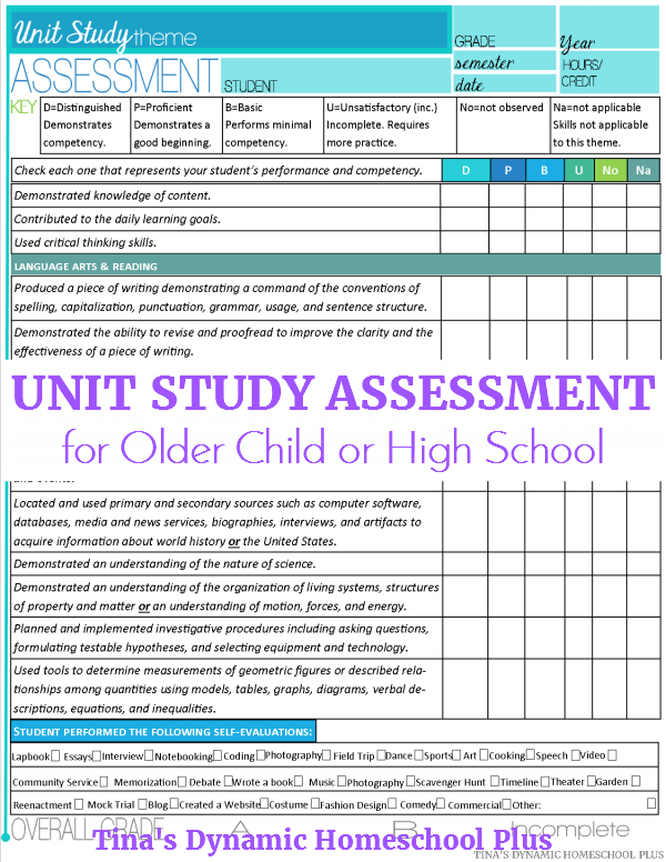 unit-study-general-assessment-high-school-tinas-dynamic-homeschool-plus