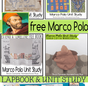 Medieval to Middle Ages - Marco Polo lapbook and homeschool unit study