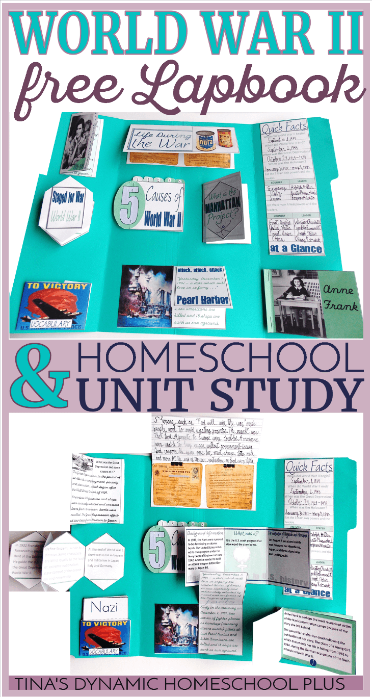 Free World War II Unit Study and Lapbook @ Tina's Dynamic Homeschool Plus