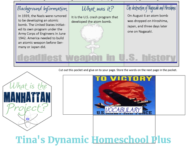 Manhattan Project, Vocabulary Words and Anne Frank Minibooks 1 @ Tina's Dynamic Homeschool Plus