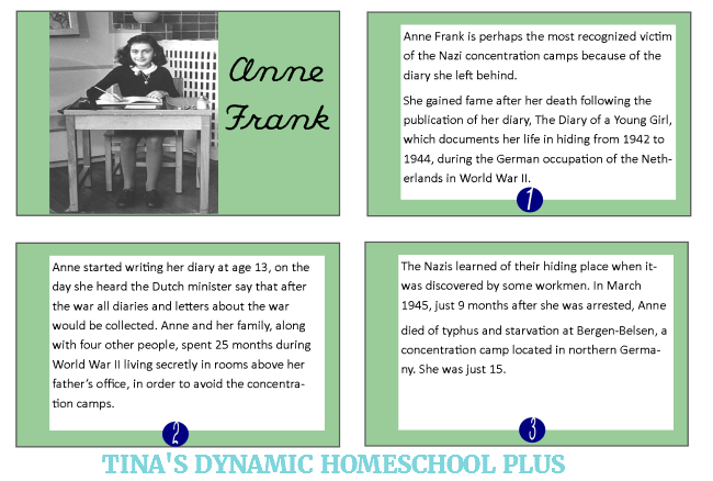 Manhattan Project, Vocabulary Words and Anne Frank Minibooks 3 @ Tina's Dynamic Homeschool Plus