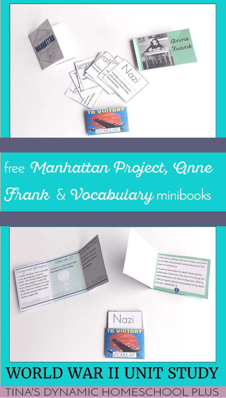 Manhattan Project, Vocabulary Words and Anne Frank Minibooks @ Tina's Dynamic Homeschool Plus
