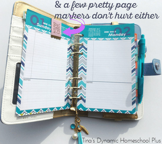 And a few pretty page markers for your personal planner while you homeschool @ Tina's Dynamic Homeschool Plus