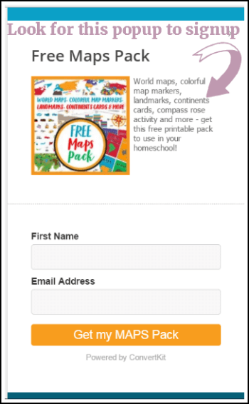 Free Maps Pack from Case of Adventure Unit Studies @ Tina's Dynamic Homeschool Plus