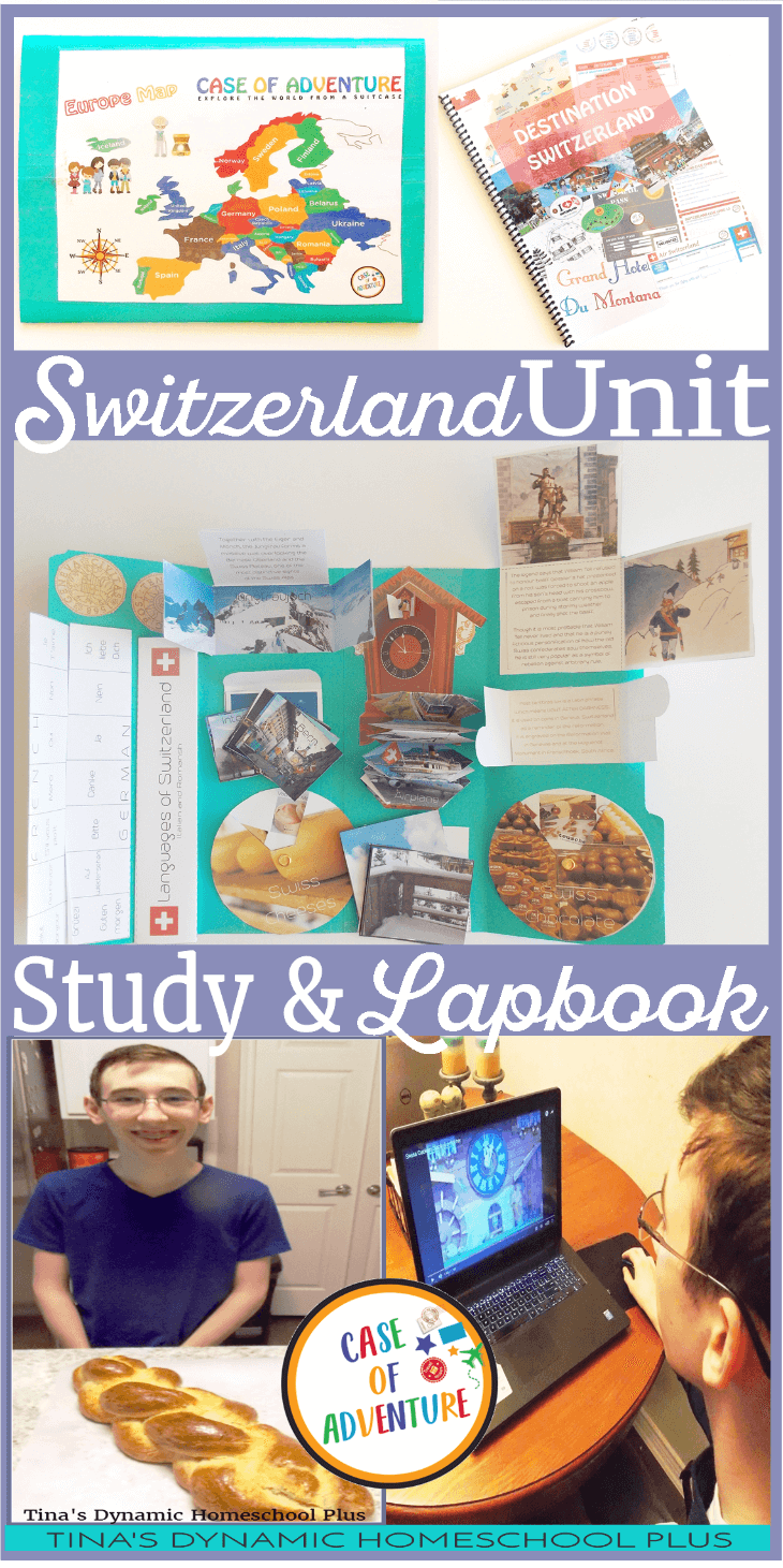 Switzerland Unit Study and Lapbook @ Tina's Dynamic Homeschool Plus