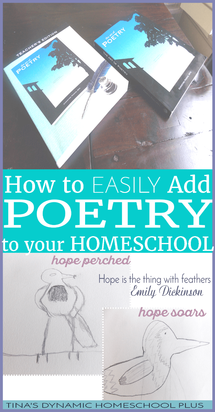 How to Easily Add Poetry to Your Homeschool Subjects @ Tina's Dynamic Homeschool Plus