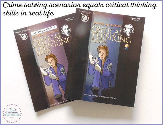 James Madison Critical Thinking Series equals teaching critical thinking skills in a fun way @ Tina's Dynamic Homeschool Plus
